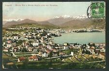 Lugano ( Svizzera ) : Monte Brè e Monte Boglia - viaggiata nel 1910