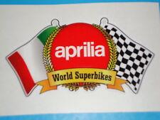 2 APRILIA STICKERS  KAWASAKI  MOTORBIKE HELMET  HONDA YAMAHA IOM TT RACES
