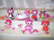 Lot Of 14 Mini Lalaloopsy Dolls & More Charlotte Charades Blossom Coaster Car