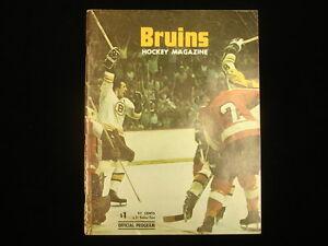 November 16, 1974 Buffalo Sabres @ Boston Bruins Program