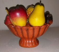 Vtg Fruit Bowl Salt And Pepper Shakers Mid Century Retro Apple Pear
