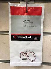 Radio Shack Micro Vibration Motor 3VDC 16,000 RPM Electronic Projects - NEW UK