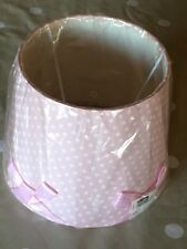 Dunnes Pink Polkadot Lampshade with Feature Ribbons Brand New in Packaging