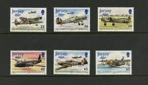 G558 Jersey 2000 WWII Battle of Britain aviation 6v. MNH
