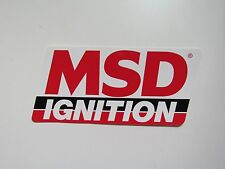 MSD Ignition System Sticker Decal New Drag Race Car Hot Rat Rod Toolbox Mechanic