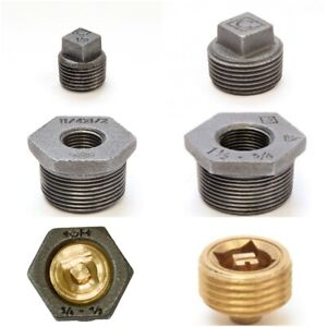 Cast Iron Radiator - Reducing Bushes, End Plugs, Bleed Valves Fittings