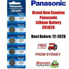 5 x PANASONIC CR1620 3V LITHIUM BUTTON COIN BATTERY BRAND NEW/GENUINE (12/2028)