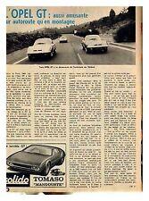 1969 : Document (Ref T 1069) : auto OPEL GT (1 p)