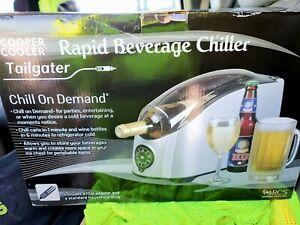 COOPER COOLER RAPID BEVERAGE & WINE CHILLER SILVER open box brand new never open