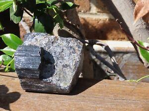 Raw Black Tourmaline Crystal Chunk Great Quality - Omni New Age