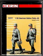 KIRIN SCALE MODEL 25027 - GERMAN RATION PARTY (2) - 1/35 RESIN KIT