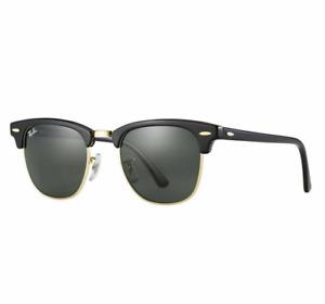 RayBan RB3016 W0365 Black Frame G15 Lens Clubmaster Sunglasses