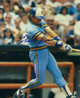 1982 BREWERS Charlie Moore signed 8x10 photo AUTO Autographed Milwaukee