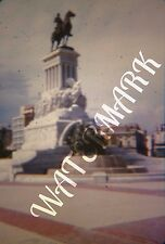 Vtg Original KODACHROME Red Border Slide General Hero Statue Havana Cuba 1950s