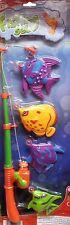 5PZ Kids giocattolo Pesca Rod MODELLO FISH KID BAMBINI BABY BAGNO tempo Divertente Party Game