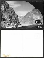 Old Wyoming Real Photo Postcard - Tunnels in Wind River Canon