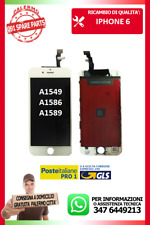 DISPLAY LCD TOUCH SCREEN IPHONE 6 G 6 BIANCO A1549 A1586 A1589 NUOVO