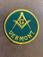Vermont Mason Masonic Patch