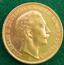 20 Mark Kaiserreich 900 Goldmünze Wilhelm II König von Preußen 1911 A Jaeger 252