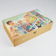 Märklin Metallbaukasten - Holzkasten - alt - Vintage
