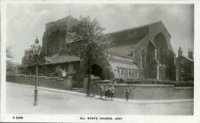 REAL PHOTO POSTCARD ALL SAINTS CHURCH, LEEK, (NEAR STOKE-ON-TRENT) STAFFORDSHIRE