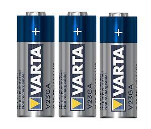 3x Varta Batterien V23GA | P23GA | A23 | 23A | LR23 | LRV08 | 12V