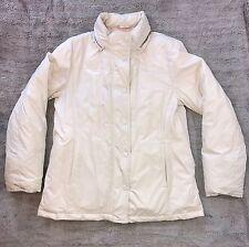 GAP Women's White Insulated Down Puffer Warm Coat Jacket Warm Sz M GUC #533