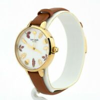 Kate Spade New York Women's Metro Brown Leather Watch KSW1460, New