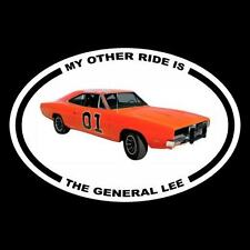 """New """"MY OTHER RIDE IS THE GENERAL LEE"""" Dukes of Hazzard DECAL bumper sticker"""