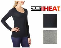 32Degrees Women's Heat Scoop Neck Thermal Top