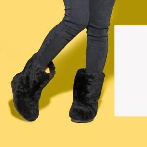 Short Sheepskin Fur Boots for Women, Winter Snow Boots, Moutons, Handmade LITVIN