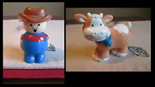 Shelcore LOT Farm Farmer w/ Goatee & Cow HARD Plastic
