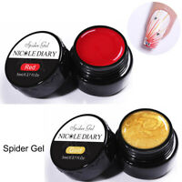 2Boxes NICOLE DIARY Gold Red Draw Painting Gel Nails Gellack Soak Off Nail Art