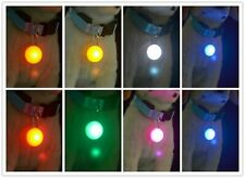Led Clip On Safety Light Cat Dog Collar Pendant Key Chain Glow, Flash, Joggers