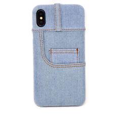"""Pellicola Vetro+Custodia cover semi rigida JEANS CASE Apple iPhone XS Max 6.5"""""""