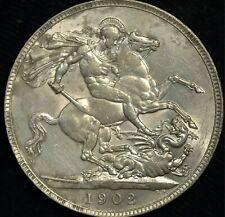 More details for crown 1902 edward vii aunc lustre.925 silver (t111)