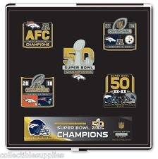 Denver Broncos Super Bowl 50 World Champions 5 Pin Set Limited Edition IN STOCK