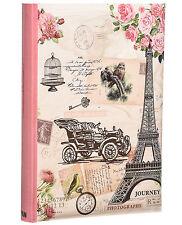 Large Pink Vintage 6'x 4' 300 Photos Slip in Photo Album with Memo Area -FL300