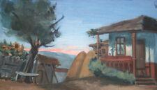 Antique European impressionism painting oil landscape