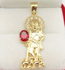 10K Yellow Gold Saint Lazarus Pendant Charm