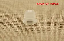 10PCS CITROEN DASH BOARD TRIM INSERTS CLIPS GROMMETS CLEAR INTERIOR OVAL SHAPE