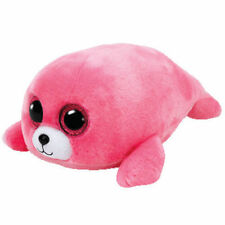Ty Beanie Boos Pierre PInk Seal Stuffed Animal Birthday January 22 NWT