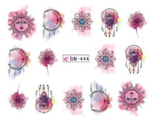 Nail Art Decals Transfers Stickers Sun & Moon (BN444)
