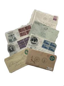 ePHEMERA AIR MAIL jUNK jOURNal Vintage Envelopes 1919-1976 Scrapbook Collectible