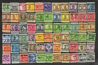 66 U S Precancel Stamps Used Chicago, New York  2