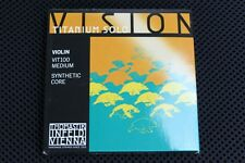 Thomastik Vision Titanium Solo Violin String Set Medium 4/4 1 Day Shipping!