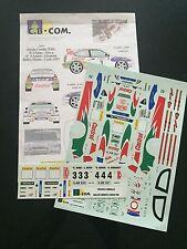 DECALS 1/24 TOYOTA COROLLA SAINZ RALLYE MONTE CARLO 1999 WRC RALLY