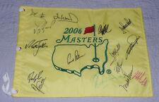 ARNOLD PALMER NICK FALDO SIGNED AUTO'D MASTERS CHAMPIONS FLAG WATSON SCOTT +11