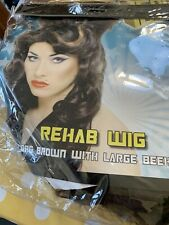 Amy Winehouse Rehab Pop Star Long Brown Beehive Wig