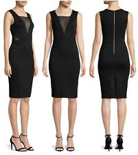 FRENCH CONNECTION  LULU MESH  CUTOUT  SHEATH  PONTE  DRESS   Sz 12  NEW   $ 148